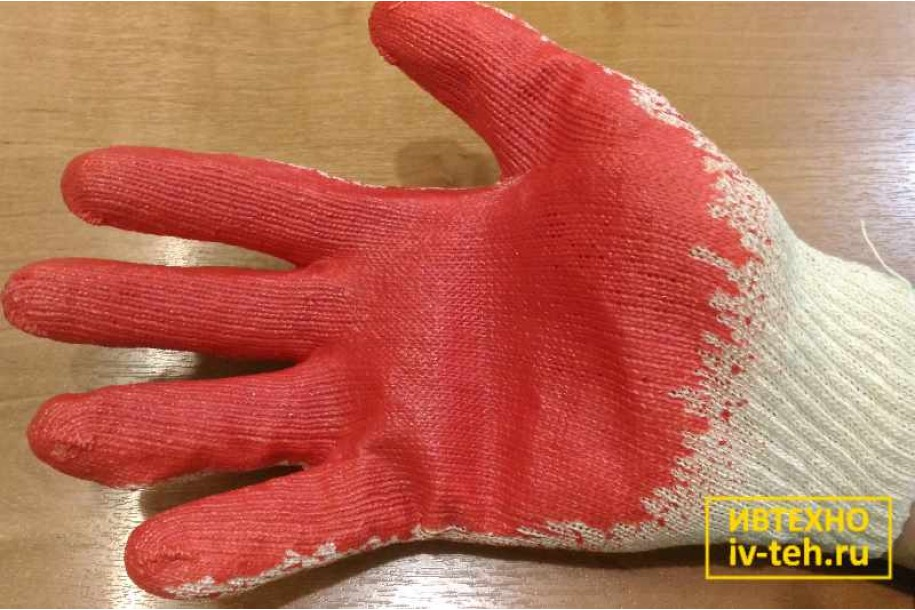 Производство обливных перчаток