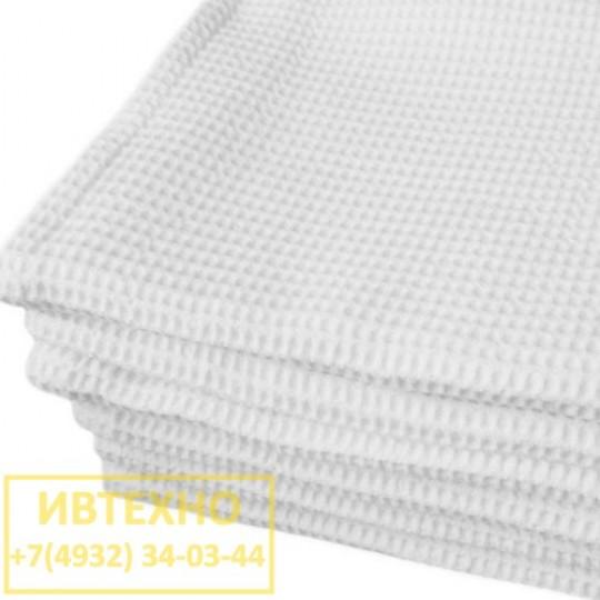 Вафельное полотенце 50 90 белые