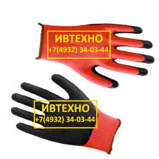 Перчатки нейлоновые со вспененным латексным покрытием