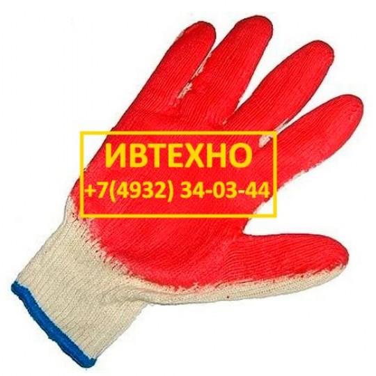 Перчатки обливная ладонь из латекса в 1 слой оптом