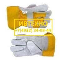 Перчатки спилковые Ангара комбинированные утепленные