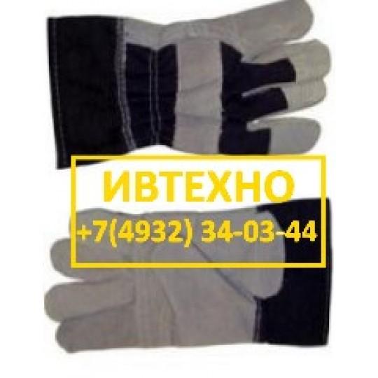 Перчатки спилковые комбинированные Докер усиленные