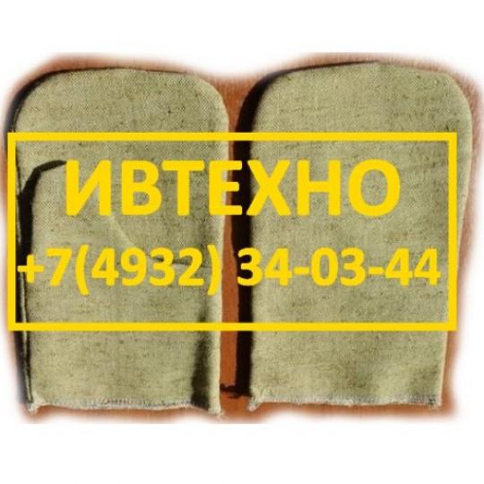 Рукавицы брезентовые с двойным наладонником ГОСТ размер 2