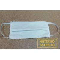 Маска защитная х/б 4-х слойная многоразовая для лица